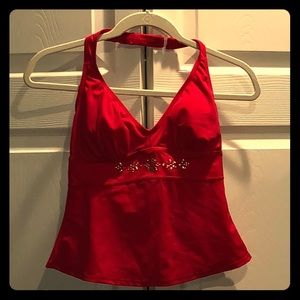 Red Tankini top